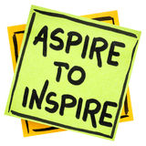 Aspirez pour inspirer le rappel ou le conseil image stock
