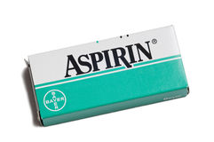 Aspirin. Photo of the most famous medicine of world Royalty Free Stock Photography