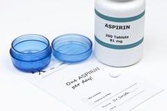 Aspirin diario Foto de archivo libre de regalías