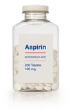 Aspirin-Flasche lizenzfreies stockbild