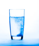 Aspirin in a glass. Closeup, healthy concept Royalty Free Stock Photography