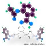 Aspirin molecule structure Stock Image