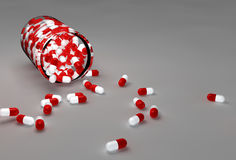 Aspirin pills and bottle Stock Photography