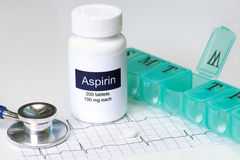Aspirin quotidiano Fotografia Stock