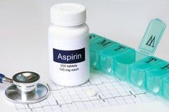 Aspirin quotidiano fotografia stock