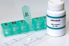Aspirin quotidien Photos stock