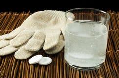 Aspirin soluble en agua Foto de archivo libre de regalías