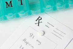 Daily Aspirin Therapy Stock Images