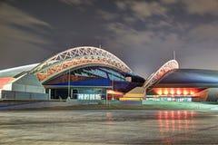 Aspiruje kopułę przy nocą Qatar dauhańskiej zdjęcia royalty free