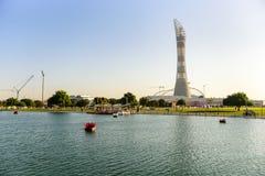 Aspiruje Parkowego Doha, Katar fotografia royalty free