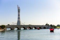 Aspiruje Parkowego Doha, Katar zdjęcia stock