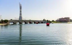 Aspiruje Parkowego Doha, Katar obrazy royalty free