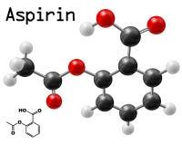Aspiryny molekuła Zdjęcia Stock