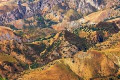 Aspromonte wzgórza Zdjęcia Stock