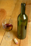 ASPwine6.jpg. Bottle and glass of red wine Stock Image