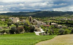 Asque. A Village named Asque, located in Spain Stock Photography