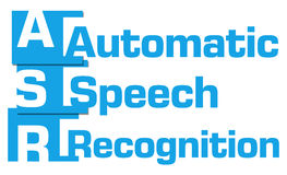 ASR - Automatic Speech Recognition Blue Abstract Stripes Royalty Free Stock Photos