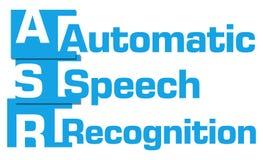 ASR - Bande astratte blu di riconoscimento vocale automatico Fotografie Stock Libere da Diritti