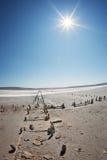 Assèche sous un ciel bleu Photo libre de droits