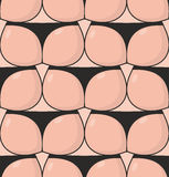 Ass seamless pattern. fanny in thong pattern. backside of body t Stock Photo