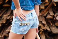 Ass woman in jeans Stock Photos