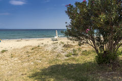 Assa Maris Beach Agios Nikolaos, Chalkidiki, Sithonia, Centraal Macedonië royalty-vrije stock foto's