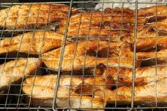 Assado apetitoso de um peixe vermelho Foto de Stock Royalty Free