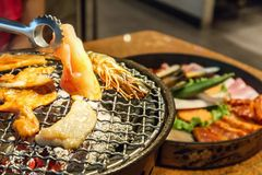 Assado coreano bulgogi grelhado Foto de Stock Royalty Free