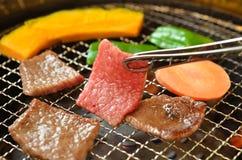 Assado coreano Yakiniku imagem de stock