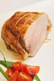 Assado cozinhado do lombo de carne de porco Imagem de Stock Royalty Free