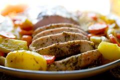 Assado de carne de porco Foto de Stock