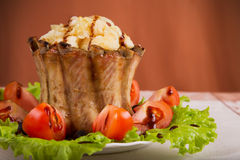 Assado de coroa de reforços de carne de porco Foto de Stock Royalty Free