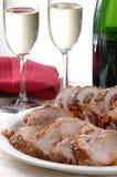 Assado do lombo de carne de porco Imagens de Stock Royalty Free