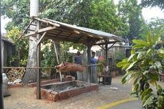 ASSADO DO PORCO DE CUBA TRINIDAD Foto de Stock
