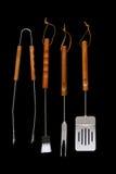 Assado, ferramentas do BBQ Fotos de Stock Royalty Free