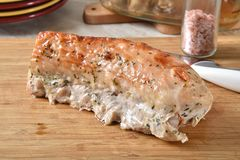 Assado gourmet do lombo de carne de porco imagens de stock royalty free