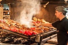 Assado no del Puerto de Mercado em Montevideo fotos de stock royalty free