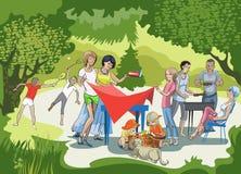 Assado no prado Imagens de Stock Royalty Free
