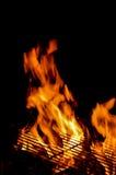 Assado quente vazio do fogo da chama Foto de Stock