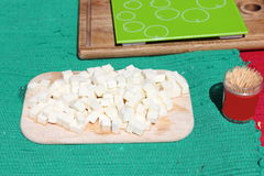 Assaggio del formaggio Fotografia Stock Libera da Diritti