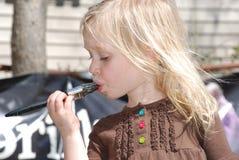 Assaggio del pennello Fotografie Stock Libere da Diritti