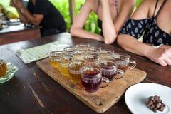 Assaggio del tè e del caffè in Bali Fotografia Stock Libera da Diritti