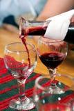 Assaggio del vino in Ungheria Immagine Stock