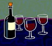 Assaggio di vino Immagini Stock