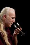Assaggio di vino, ritratto Fotografia Stock Libera da Diritti