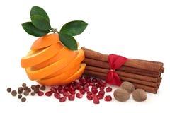 Assaisonnement d'épice et de fruit images stock