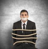 Assalendo e sforzo sul lavoro Immagine Stock Libera da Diritti