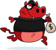 Assaltante do diabo dos desenhos animados Fotos de Stock Royalty Free