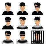 Assaltante e ladrão Men Imagem de Stock