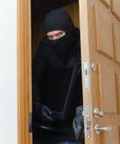 Assaltante masculino na máscara Foto de Stock Royalty Free